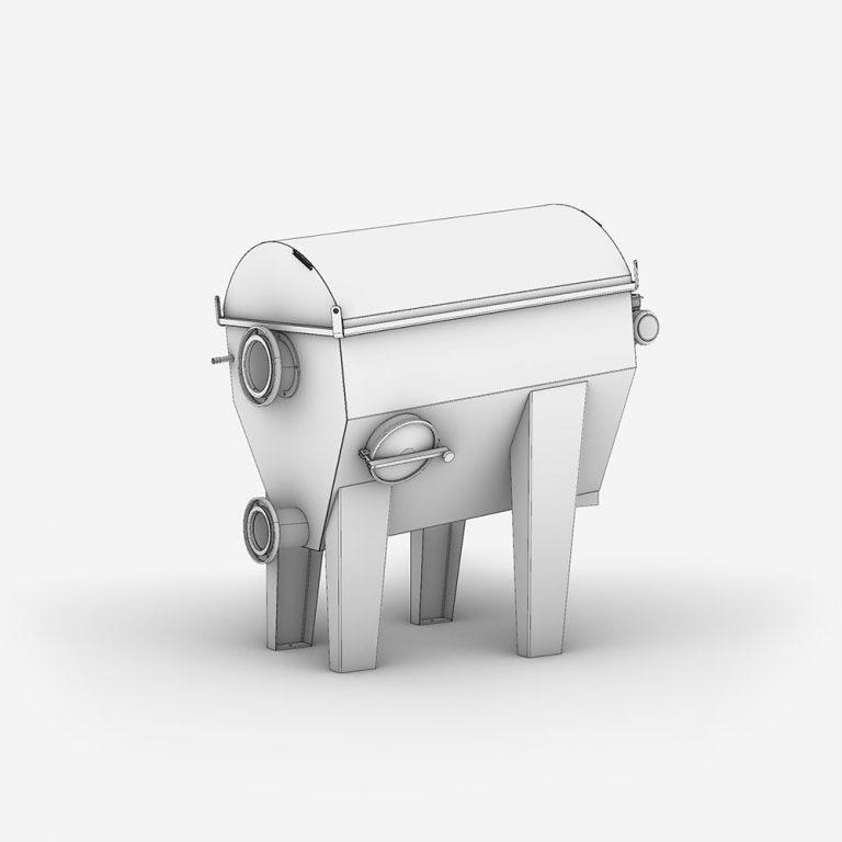 SERTROM FU & FI Serinol tamis rotatif trommel à alimentation interne